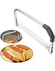 prunus Nivelador de Tartas, Sierra Transversal Ajustable de 3 Cuchillas. La Mejor cortadora para Principiantes, para Conseguir una Tarta Apta para Cocineros Profesionales y Uso casero