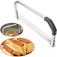 PRUNUS™ Cake Leveler, Adjustable 3 Blades Crosscut Saw, The Best Cutter for Beginners to Prevent Cake from Screw Up, Also Suitable for Both Professional and Home Pastry Cook