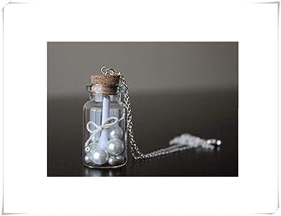 Mensaje en una botella collar. Miniatura Botella Vial De Vidrio ...