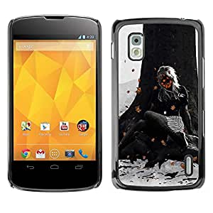 Exotic-Star ( Abstract Autumn Girl ) Fundas Cover Cubre Hard Case Cover para LG Google NEXUS 4 / Mako / E960