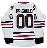 Wettsi Clark Griswold #00 Christmas Vacation Movie Hockey Jersey Shirt (XX-Large)
