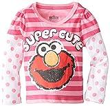 Sesame St Girls' Elmo Super Cute Long Sleeve T-Shirt