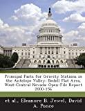 Principal Facts for Gravity Stations in the Antelope Valley, Eleanore B. Jewel, 1288848188