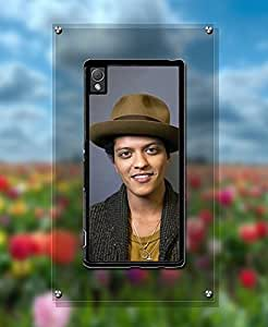Cute Singer - Xperia Z3 Plus Hard Funda Case Bruno Mars Classical Style + Popular Design For Your Phone Funda Case And Slim Scratch Resistant Protection Back Funda Case Cover (Hard Plastic) Compatible With Sony Xperia Z3 Plus (Only for Z3 Plus)