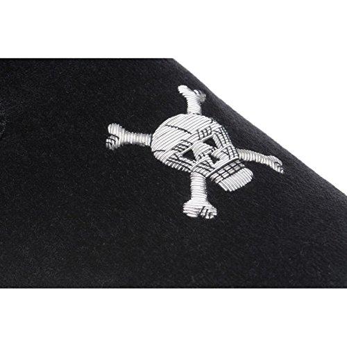Hareng crâne Chaussons en velours noir