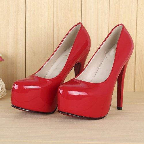 SEXYHER sophistiqu¨¦e chaussures plate-forme de 4,5 pouces ¨¤ talons hauts c¨¦l¨¦brit¨¦s vives - SHO168-3-4.5 / ROUGE