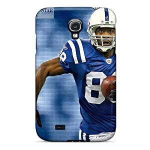 DrawsBriscoe Samsung Galaxy S4 Shockproof Hard Phone Covers Custom Colorful Indianapolis Colts Pictures [HZW19909saCh]