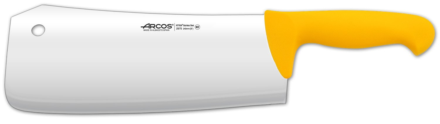 Arcos 10-Inch 240 mm 640 gm 2900 Range Cleaver, Yellow