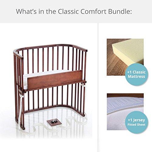 babybay Bedside Sleeper Classic Comfort Bundle (Deep Walnut)