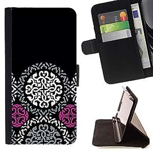 For LG G3 Case , Modelo céltico oscuro gótico- la tarjeta de Crédito Slots PU Funda de cuero Monedero caso cubierta de piel