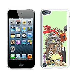 Miyazaki Characters White iPod Touch 5 Cellphone Case Personalized and Unique Design