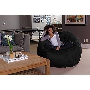 Sofa Sack - Bean Bags Bean Bag Chair, 5-Feet, Black