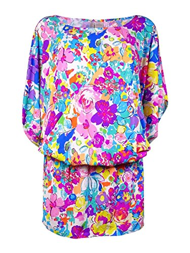 Anne Cole Women's This Bud's for You Kangaroo Pouch Caftan Cover Up, Multi, Large/X-Large