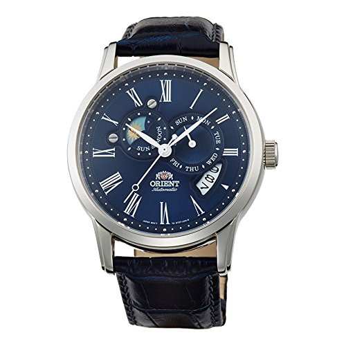 - Orient Men's FET0T004D0 Classic Sun and Moon Version 2 Analog Automatic Blue Watch