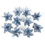 10Pcs-Glitter-Hollow-Wedding-Party-Decor-Christmas-Artificial-Fabric-Simulation-Flower-Xmas-Tree-Decorations-ADSRO