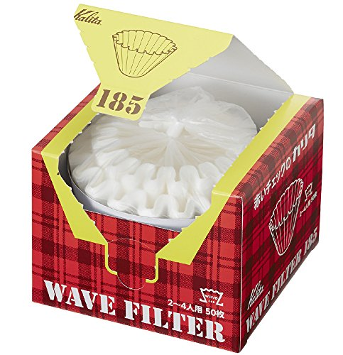 Kalita Wave Filters KWF-185 Pack of 50 Sheet White Convenient box type for taking out and storing 22210 (Japan Import) (185(2 to 4 people))
