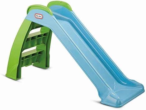 Little Tikes Primer Tobogán - Juego para Uso en Interiores o Exteriores - Durable, Estable, Seguro para Niños - Azul y Verde