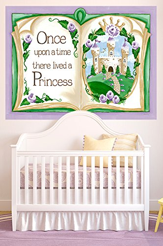Oopsy Daisy Once Upon a Time Storybook Lavender by Sherri Blum Murals That Stick, 72