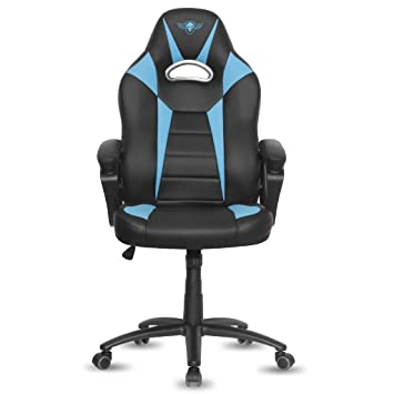 Spirit of Gamer Fighter Silla Gamer, Poliuretano, Azul, 67 x 70 x 129 cm: Spirit: Amazon.es: Hogar