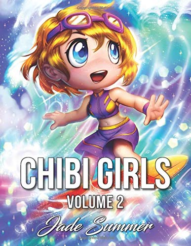 Chibi Girls 2: An Adult Coloring Book with Cute Anime Characters ...