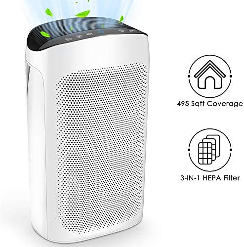 Air Choice Air Purifiers for Large Room – Air Purifier for Home with True HEPA Air Filter for Allergies and Pets, 495 sqft Coverage, Eliminates Pollen, Dust, Germs, Odors, Fumes and Wild Fire Smoke