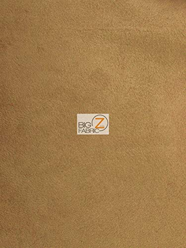 Microfiber Suede Upholstery Fabric DIY Jeans Shoes Couches Drapes Accessories!! (Caramel, 1 Yard)