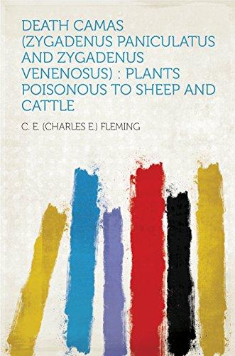 Death Camas (Zygadenus Paniculatus and Zygadenus Venenosus) : Plants Poisonous to Sheep and Cattle