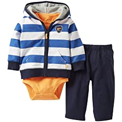 Carter's Baby Boys' 3 Piece Hooded Cardigan Set (Baby)