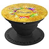 Breathe Gift Inhale Exhale Take Breath Splatter Rainbow - PopSockets Grip and Stand for Phones and Tablets