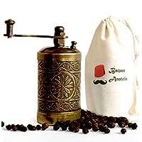Molinillo artesanal turco, molinillo de especias, molinillo de pimienta, molino de pimienta 3.0 '' (oro antiguo)