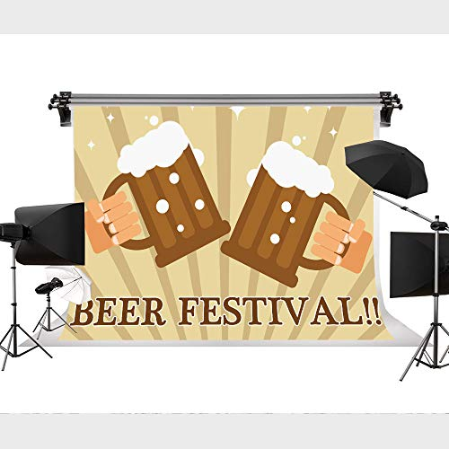 (STS Oktoberfest Backdrop Denver Beer Fest 9X 6FT Cheers German Beer Festival Celebrate Funny Happy Hour Drinks Beer Party Outdoor Yard House Flags Banner for Home Decor LHST167)
