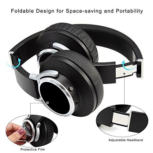 NEXGADGET Auriculares Bluetooth 4.1 DE Diadema Casco Cómodo Plegable Inalámbrico con Micrófono Headphone Manos Libres y Cable de Audio para los Móviles ...