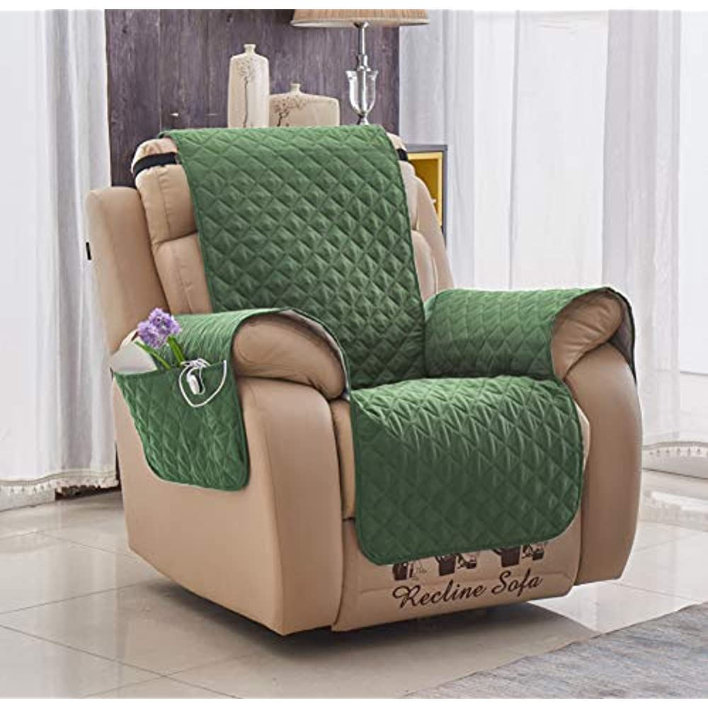 Green Furniture Cover With Pockets For Chair, Armchair ...
