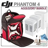 DJI Phantom 4 Backpack Bundle: Includes 2x DJI Phantom 4 Batteries, eDigitalUSA Shockroof Backpack for DJI Phantom 4 Drone, Brush Blower, Cleaning Kit & eDigitalUSA Cleaning Kit
