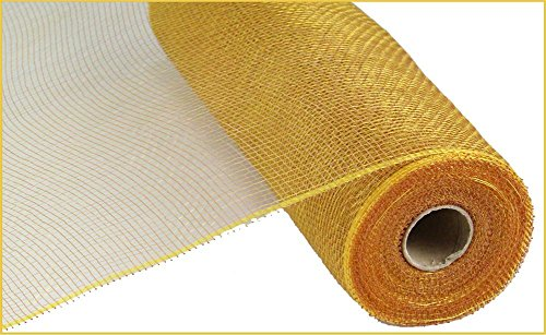 10 inch x 30 feet Deco Poly Mesh Ribbon - Value Mesh (Gold/Brown)