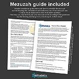 100% K0sher Mezuzah Scroll With Lucite Mezuzah Case
