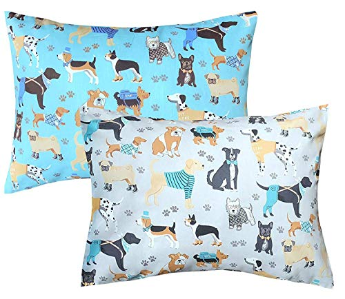 - 100% Cotton Toddler Pillowcases Set of 2, Soft and Breathable, 13