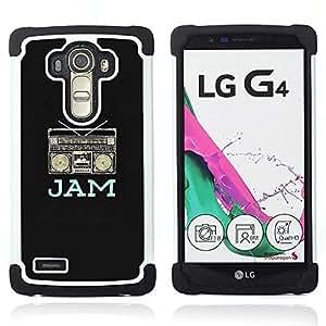 For LG G4 H815 H810 F500L - jam boom box music dj black rap speaker Dual Layer caso de Shell HUELGA Impacto pata de cabra con im????genes gr????ficas Steam - Funny Shop -