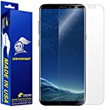 Armorsuit - Galaxy S8 Screen Protector [Full Coverage] MilitaryShield For Samsung Galaxy S8 Lifetime Replacement Anti-Bubble HD Clear