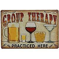 Placa decorativa de pared vintage con diseño de cerveza de Ndier Group Therapy
