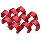 C-Clip - SODIAL(R)C-Clip 10pcs Snap Tubes Brake Hose Guide MTB BMX bike Color: Red