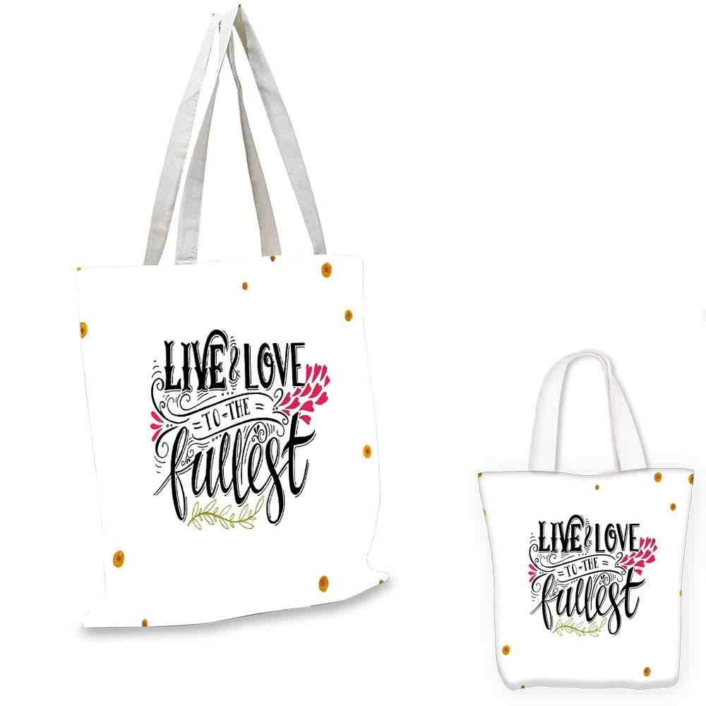 16x18-13 Love canvas messenger bag Hand Written I Love You Phrases Heart Symbols Valentines Day Inspiration canvas beach bag Vermilion Black White