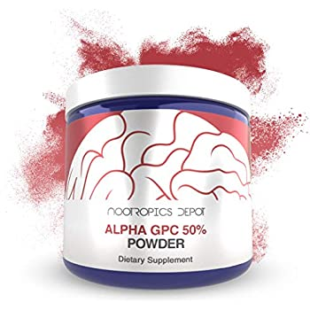 Alpha GPC Powder (50%) | 30 Grams | Choline Supplement | Brain Health Supplement | Supports Healthy Brain Function | Enhance Cognition, Memory + Focus
