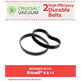 2 Long-Life Durable Bissell Style 8 & 14 Vacuum Cleaner Style 8 & 14 Belts, Pack of 2, Replaces Lift-Off Belt Part# 3200, Designed and Engineered by Think Crucial