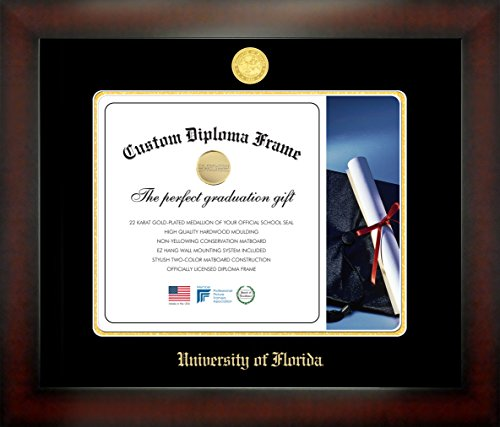 University of Florida® 12 x 16 Mahogany Finish Infinity Diploma Frame by Celebration Frames