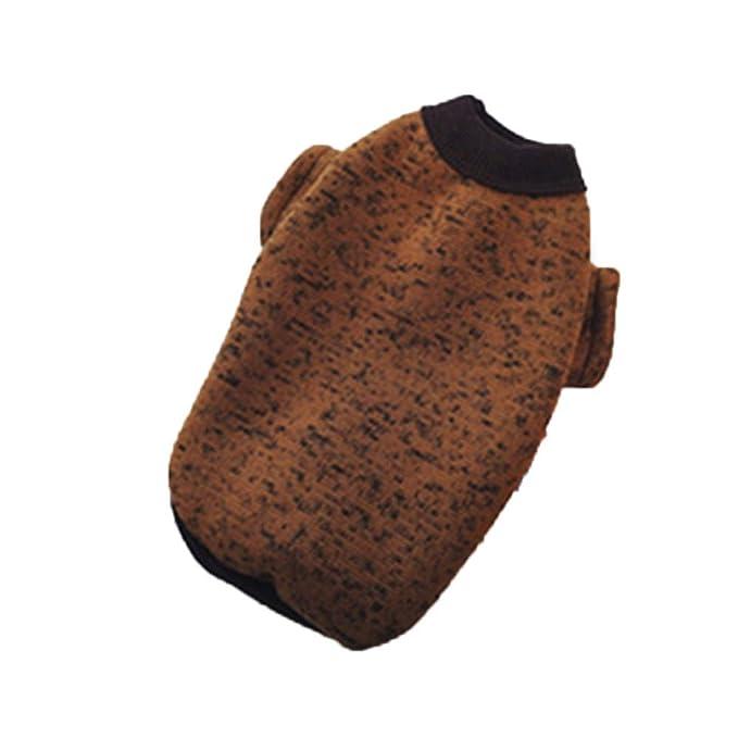 Ropa para Mascotas,Dragon868 Caliente Mascotas Perros Puro Color Lana suéter Ropa: Amazon.es: Ropa y accesorios