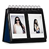 turquoise and gold picture frames - CAIUL Compatible 68 Pockets Desk Calendar Style Photo Album for Fujifilm Instax Mini 8 8+ 9 70 7s 90 25 26 50s Films (Black)