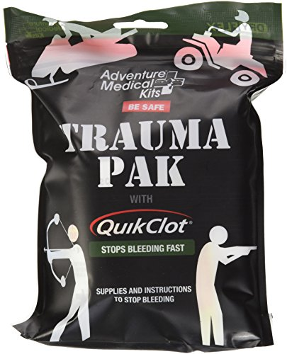 Adventure Medical Kits Professional Trauma Pak Kit with QuikClot Hemostatic Clotting Sponge to Stop Bleeding Fast