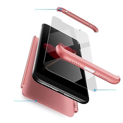 Funda XiaoMi Mi 8 Carcasa XiaoMi Mi 8 con [ Protector de Pantalla de Vidrio Templado ] 3 en 1 Desmontable Anti-Arañazos XiaoMi Mi 8 Funda Protectora ...