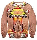 Uideazone Teen Girls Boys Printed Christmas Story Leg Lamp Pullover Sweatshirts Ugly X-mas Shirt